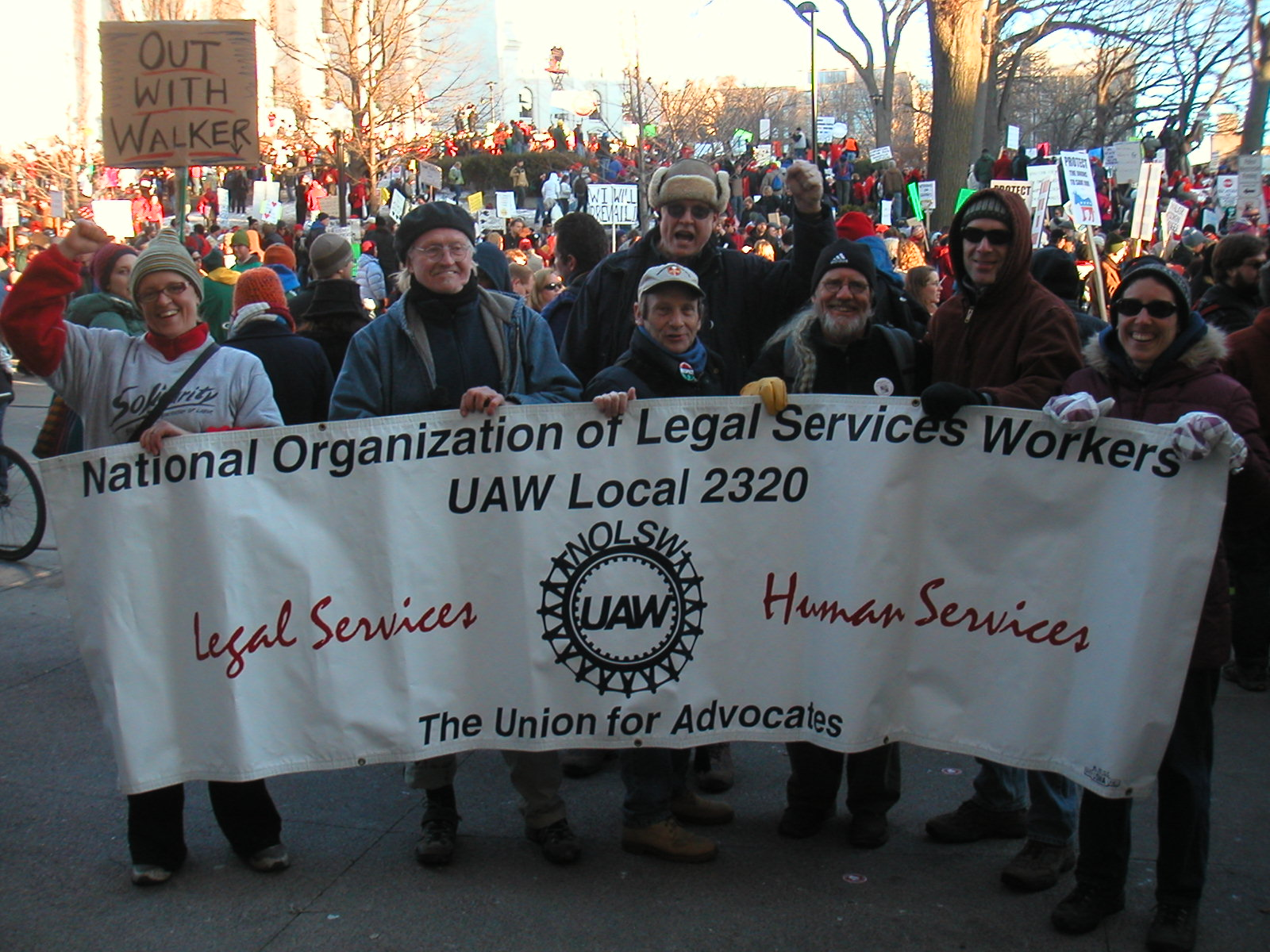 NOLSW Demonstrate in Madison, Wisconsin